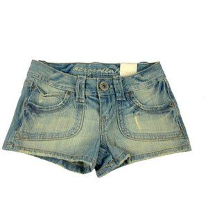 Aeropostale Light Wash Distressed Shorts Size 1/2